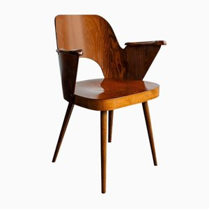 Mid-Century Chair by Oswald Haerdtl for Ton n.p. Bystřice Pod Hostínem