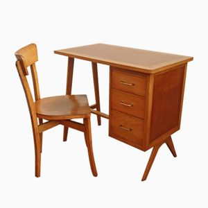 Vintage Desk and Chair Set from Luterma, 1950s