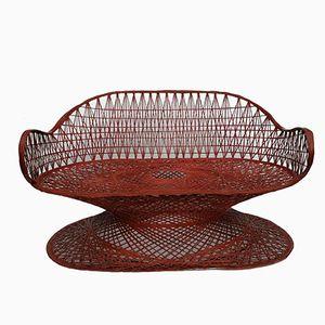 Spun Fibreglass Bench by Russell Woodard, 1960s