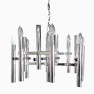 Cubic chandelier by gaetano sciolari 1970s for sale at pamono vintage 12 arm chandelier by gaetano sciolari aloadofball Choice Image