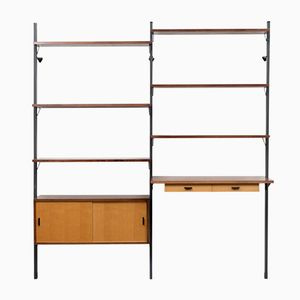 Swedish Ash Veneer Wall Unit by Olof Pira for String, 1960s