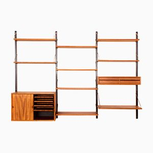 Vintage Danish Teak Wall Unit by Poul Cadovius for Royal System
