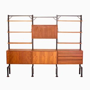 Vintage Danish Floorstanding Wall Unit by Poul Cadovius for Royal System