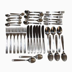 Silvered Bauhaus Cutlery Set from Berndorf, 1955