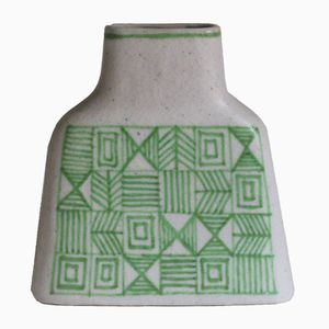 Large Mid-Century Vase with Geometric Pattern by Guido Gambone