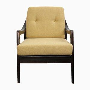 Sessel mit Gelben Kissen, 1950er