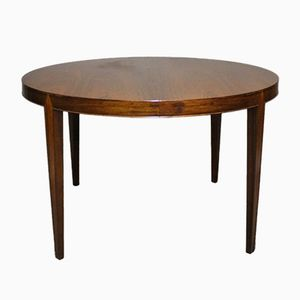 Round Dining Table with Extension by Severin Hansen for Haslev, 1960s
