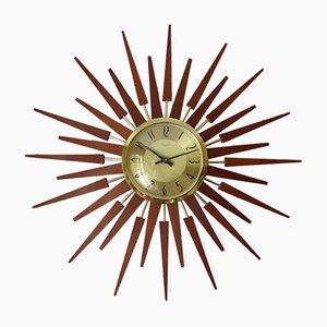 Horloge Mid-Century Dorée d'Anstey & Wilson