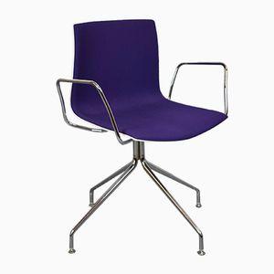 Chaise de Bureau Califa 53 Mid-Century Moderne par Lievore, Altherr et Molina pour Arper, Italie