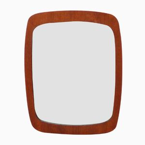 Teak Veneered Scandinavian Mirror, 1960s