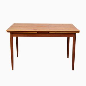 Mid-Century Teak Expandable Dining Table