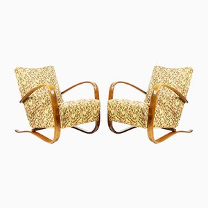 H279 Armchairs by Jindrich Halabala for UP Zavody, 1940s, Set of 2