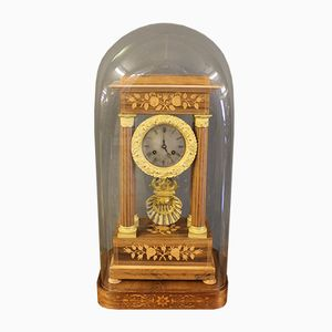 Ormolu Mantel Clock with Glass Dome, 1850s