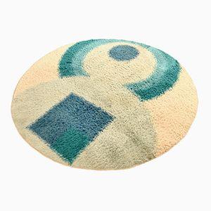 Runder Moderner Hochfloriger Teppich