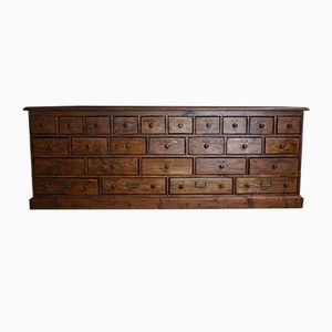 German Pine Apothecary Cabinet, 1900s