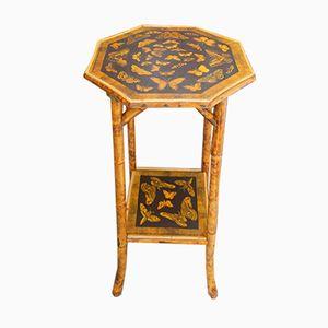Antique Butterflies Bamboo Table