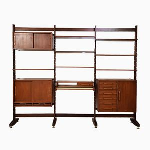 Mid-Century Rosewood Shelving System from Bernini