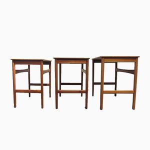 Nesting Table Set by Hans J. Wegner for Andreas Tuck, 1960s