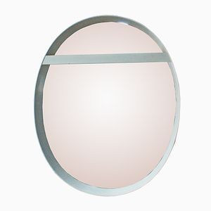Oval Wall Mirror with Lighting, 1970s
