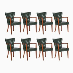 Vintage Leather Dining Chairs from Heal's, Set of 8