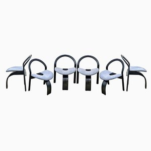 3-Legged Chairs by Giovanni Offredi for Saporiti, 1970s, Set of 6