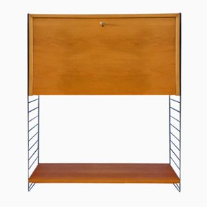 Elm Veneer Shelving Unit by Kajsa & Nils Strinning for String, 1950s
