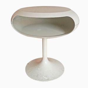 Weißer Space Age Beistelltisch von Eero Saarinen für Opal