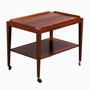 Rosewood Rolling Table from Haslev, 1960s
