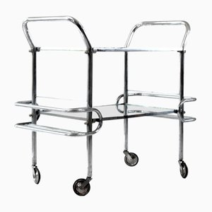 Vintage Serving Trolley in Tubular Steel