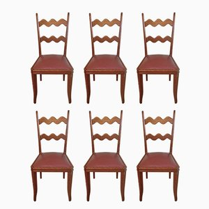 Chaises en Chêne par Paolo Buffa, 1950s, Set de 6