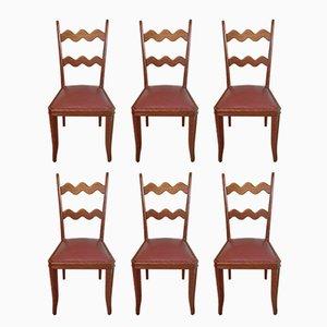 Eichenholz Stühle von Paolo Buffa, 1950er, 6er Set