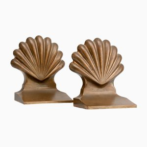 Solid Brass Bookends, 1930s, Set of 2