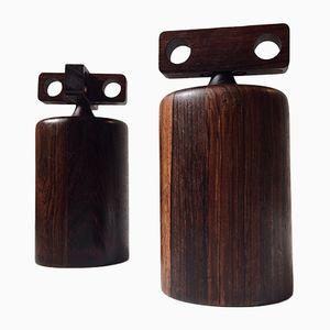 Rosewood Salt and Pepper Mills by Birgit Krogh for Woodline, 1960s, Set of 2