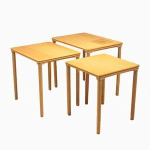 Table Gigognes en Chêne & Céramique de Toften Mobelfabrik, Danemark, 1960s