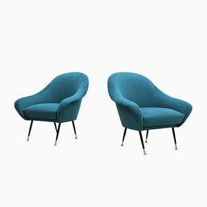 Mid-Century Italian Armchairs from Minotti, Set of 2