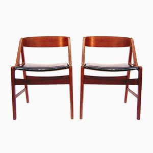 Esszimmerstühle von Henning Kjaernulf für Boltings Stolefabrik, 1960er, 4er Set