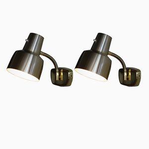 Swedish Brass Wall Lights from Armaturhantverk Tibro, 1960s, Set of 2