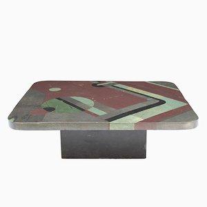 Small Slate Table by Pierre Elie Gardette, 1980