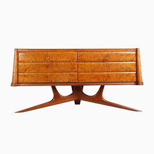 Italian Burr Maple Sideboard, 1950s