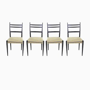 Italian Dining Chairs, 1950s, Set of 4