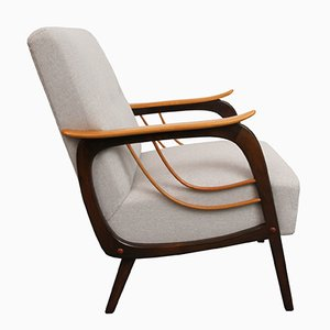 Lounge Chair with Beige Upholstery, 1950s