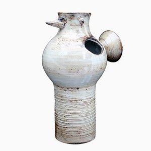 Vogel Vase von Jacques Pouchain, 1960er