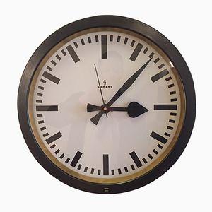 Horloge d'Usine Vintage de Siemens & Halske, 1940s