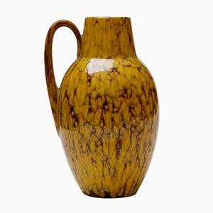 Mid-Century Mustard Yellow Kaskade Vase from Scheurich