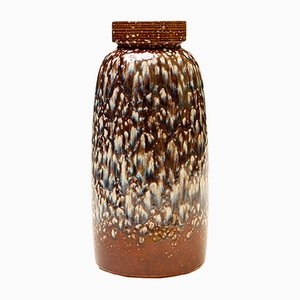 Brown Dripping Vase from Scheurich, 1960s