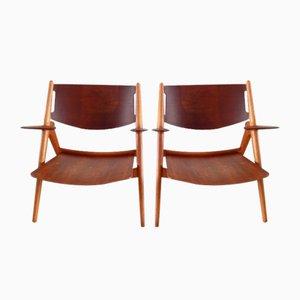 CH-28 Chairs by Hans J. Wegner for Carl Hansen & Søn, 1951, Set of 2