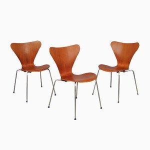 7 Series Stühle von Arne Jacobsen für Fritz Hansen, 1960er, 3er Set