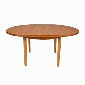 Mid-Century Circular Teak Extendable Dining Table from McIntosh, 1960s