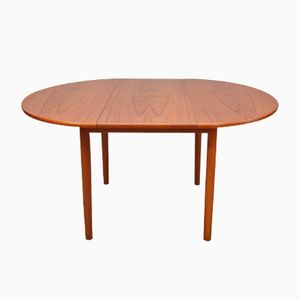 Mid-Century Oval Teak Extendable Dining Table by Greaves and Thomas