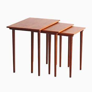 Vintage Danish Teak Nesting Tables